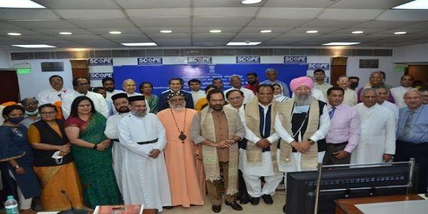 مرکزی وزیر مختار عباس نقوی نے مسیحی برادری کے سرکردہ شخصیات کے ساتھ بات چیت کی